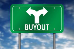 buyout road sign